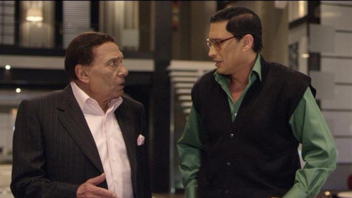 مع الزعيم عادل إمام في مسلسل أستاذ ورئيس قسم