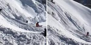 فيديو: انهيار جبل جليدي خلال تزلج رياضي