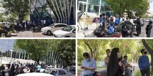 اعتصام أمام بورصة طهران – فيديو وصور