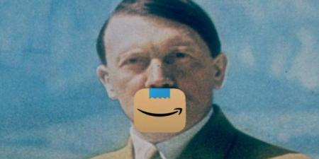 أمازون تغير شعارها بسبب شارب هتلر